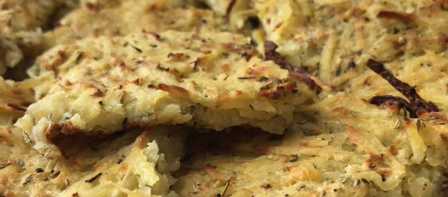 Baked Sheet Pan Potato Latkes